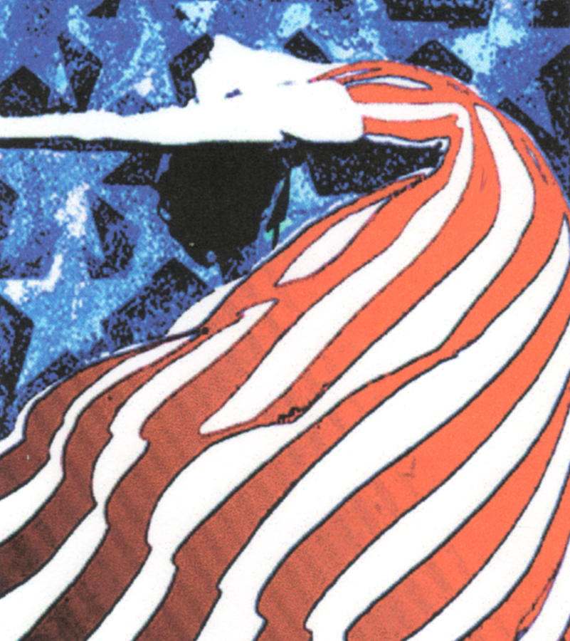 American Flag Painting - Flag Dancer by Linda Crockett