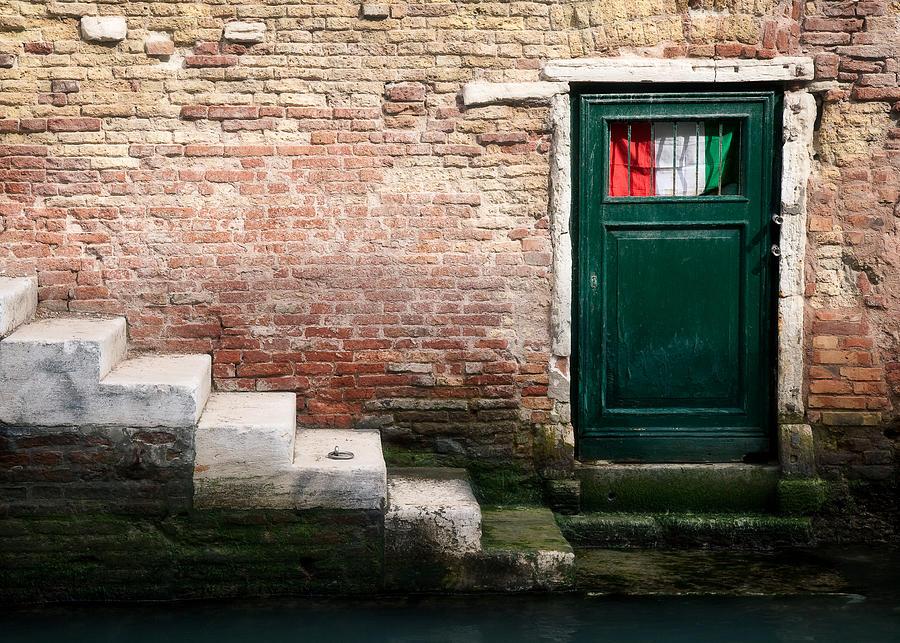 Venice Photograph - Flag by Dave Bowman