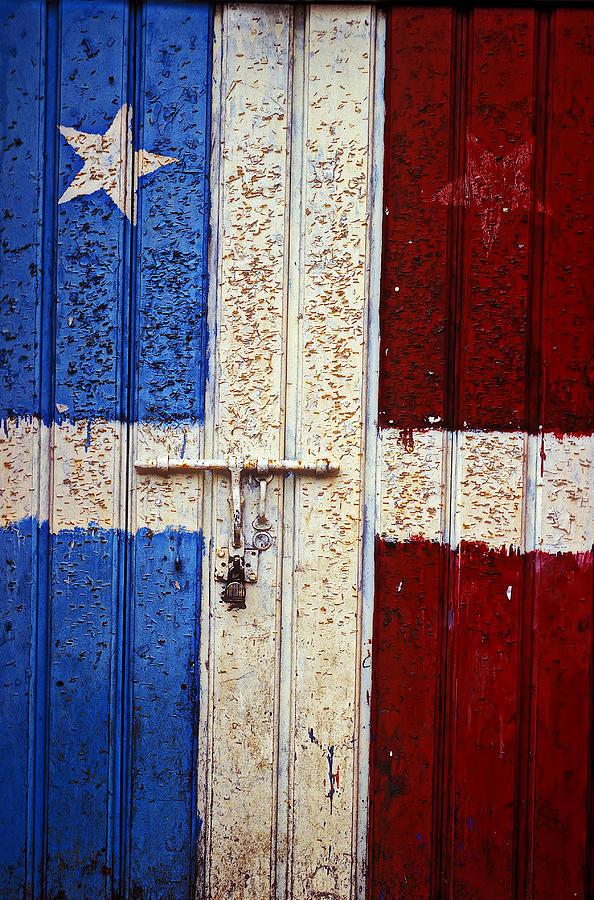 San Juan Photograph - Flag Door by Garry Gay