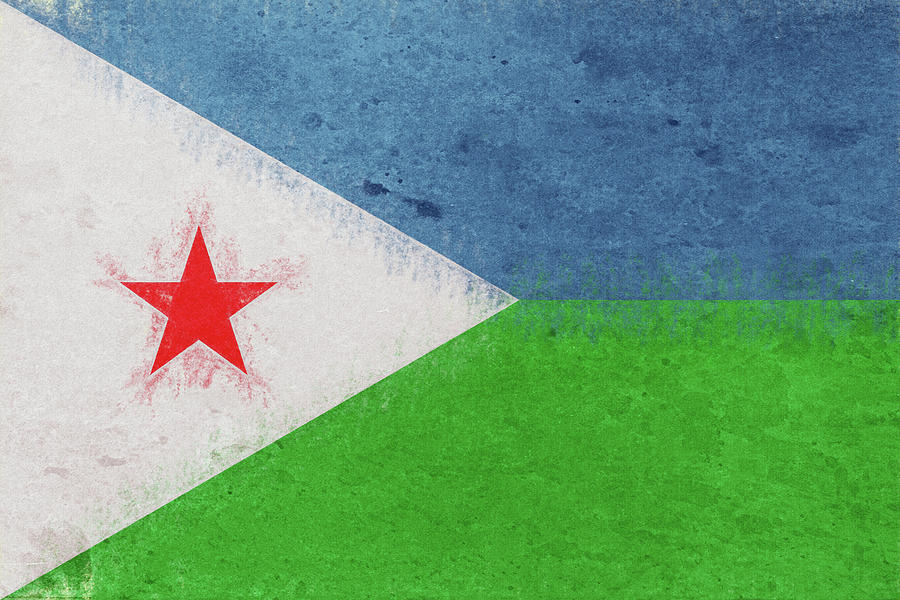 Africa Digital Art - Flag Of Djibouti Grunge by Roy Pedersen