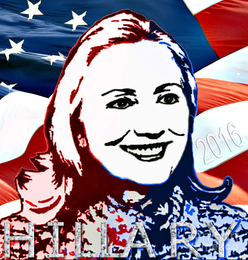 Hillary Photograph - Flag Of Hillary by Jost Houk