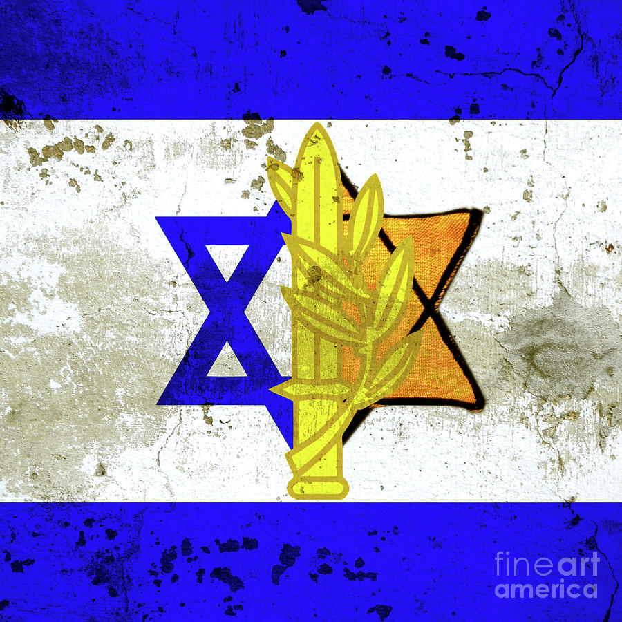 Flag Of Israel Art Photograph by Nir Ben-Yosef