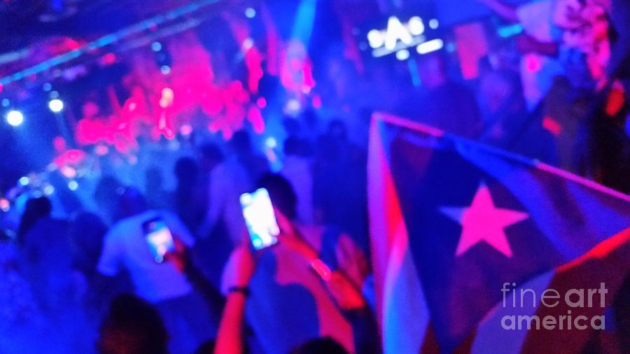 Flag of Puerto RIco at Gran Combo Concert by Heather Kirk