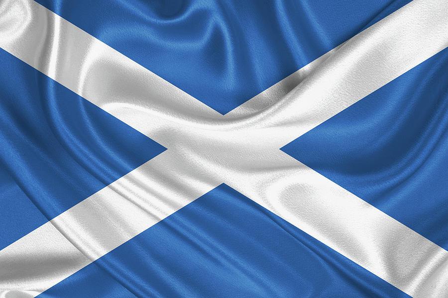 Patriotic Digital Art - Flag Of Scotland by Serge Averbukh