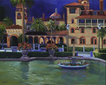 Flagler College II Painting by Christine Cousart