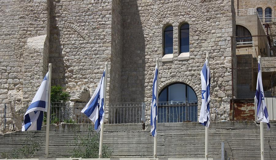 Flags at the Kotel by Julie Alison