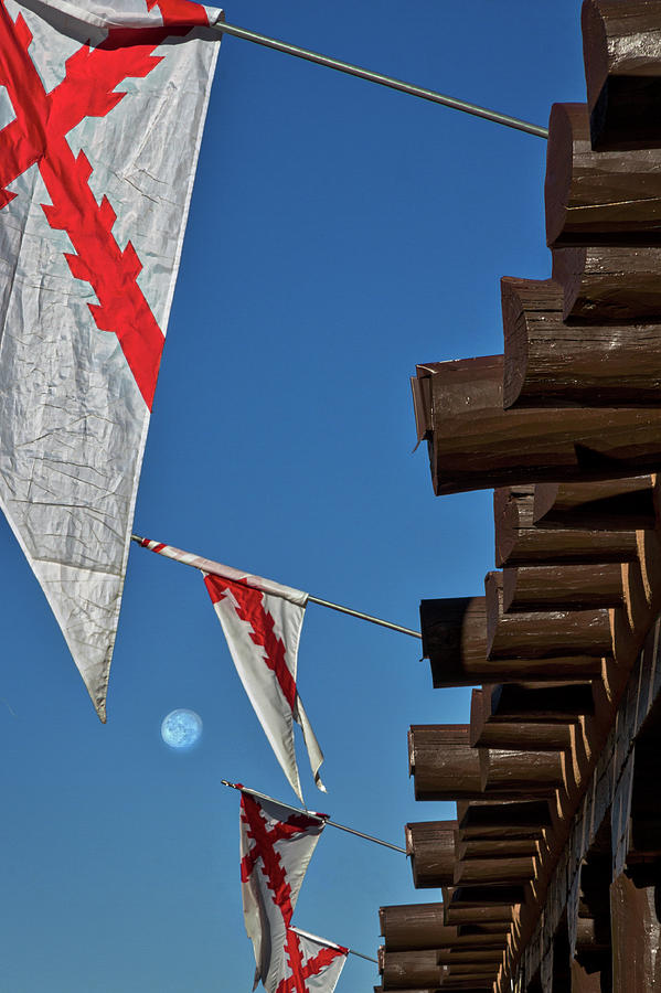 New Photograph - Flags At The Palace Of Governors by Stuart Litoff
