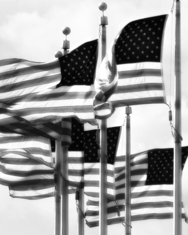 Flags Photograph - Flags by John Gusky