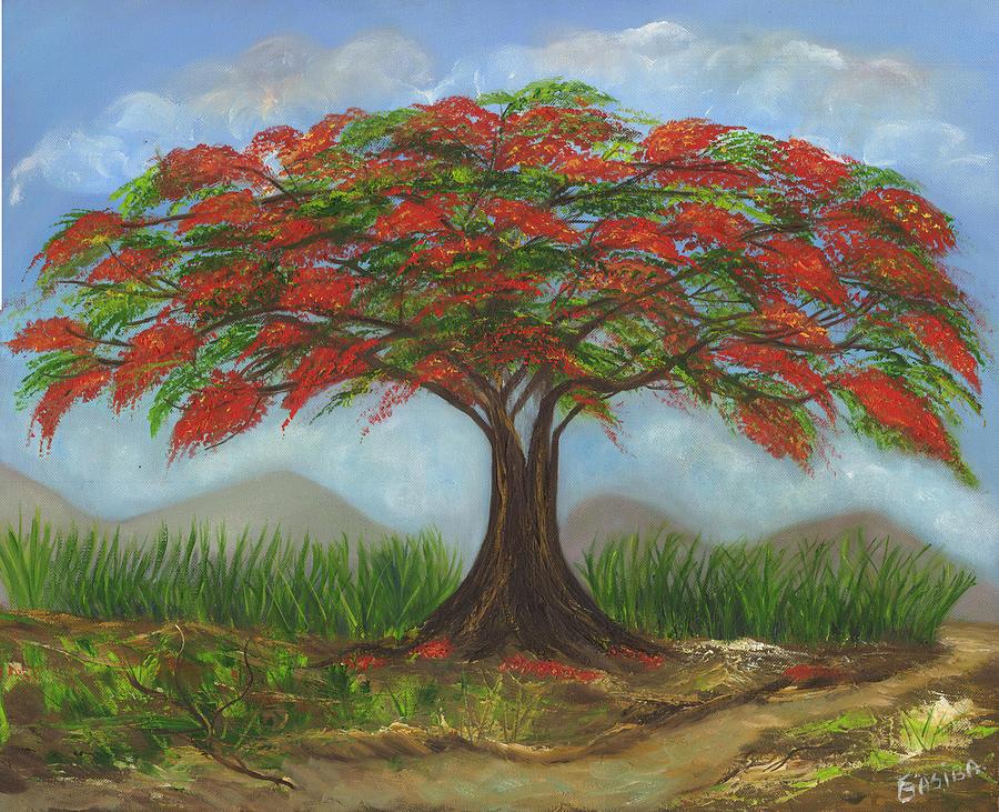 Flamboyan Painting By Marlene Gasiba