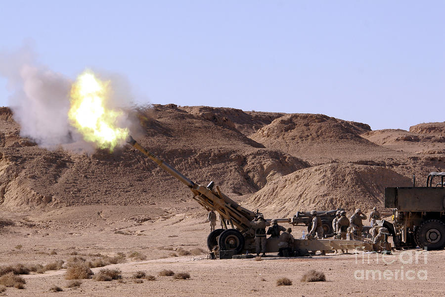 Artillery Photograph - Flame And Smoke Emerge From The Muzzle by Stocktrek Images