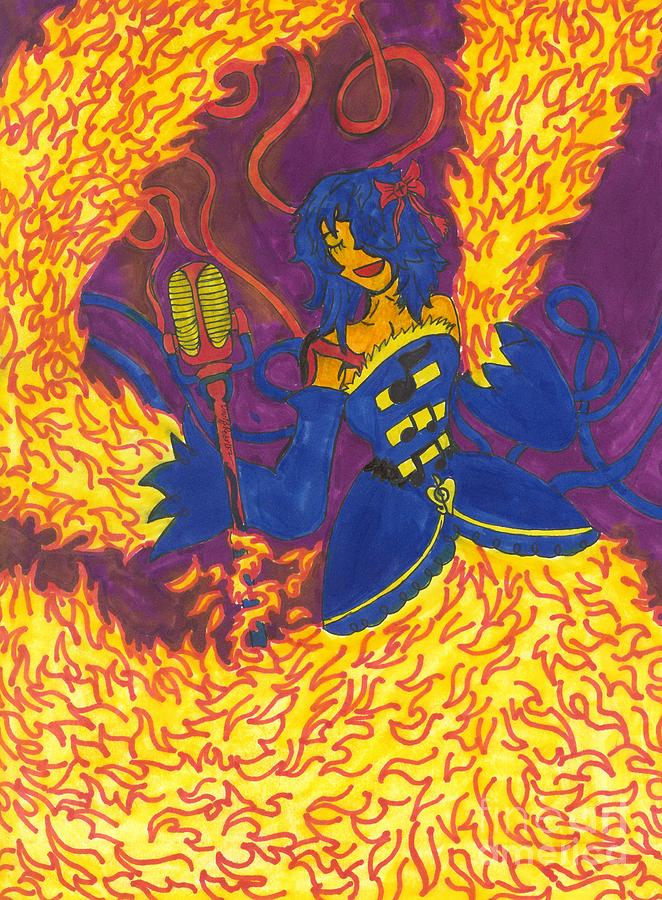 Flame Dancer by Artists With Autism Inc