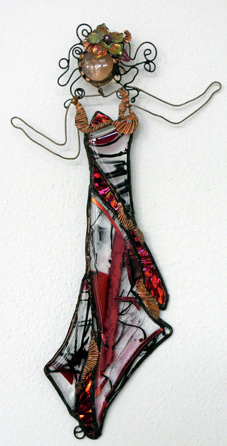 Flame Dancer Glass Art by Maxine Grossman