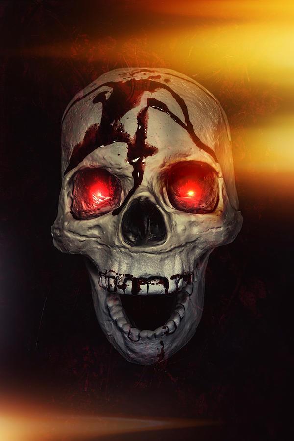Skull Photograph - Flame Eyes by Joana Kruse