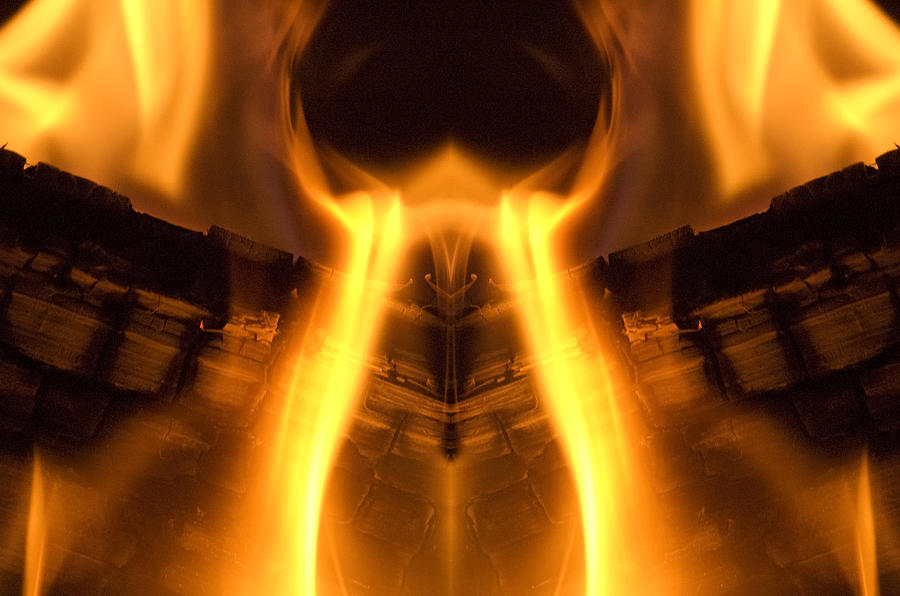 Flames Photograph - Flame Forms by Ross Powell