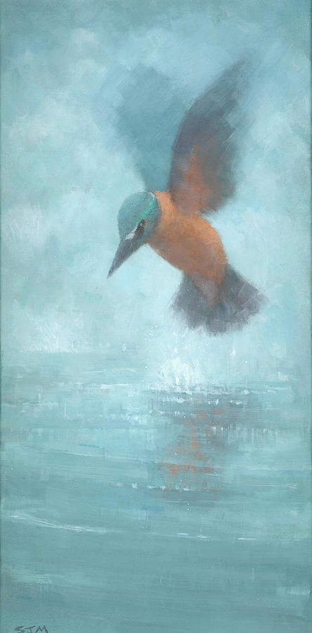 Blue Painting - Flame In The Mist by Steve Mitchell