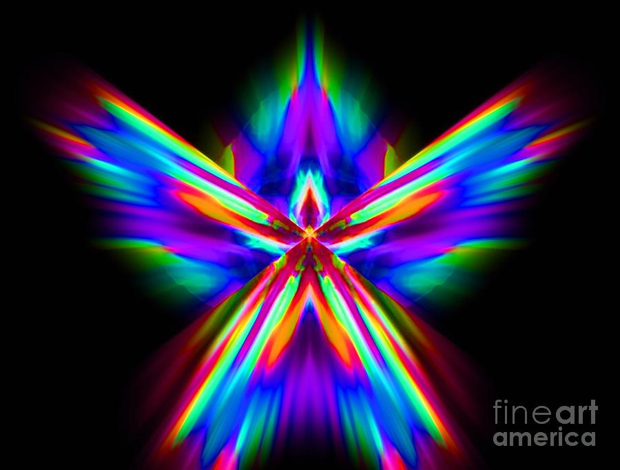 Abstract Digital Art - Flame by Lorles Lifestyles