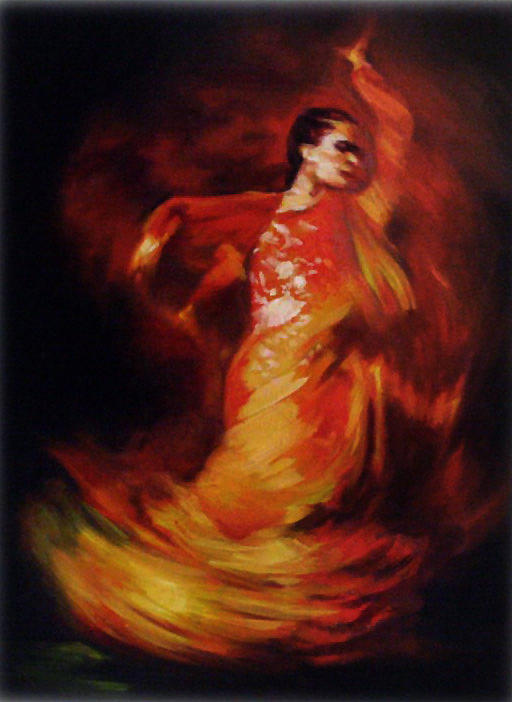 Flame N Co Painting by Wendell Wiggins