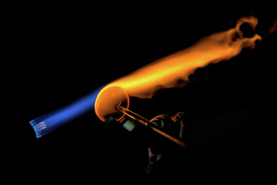 Glass Photograph - Flame Work by Digiblocks Photography