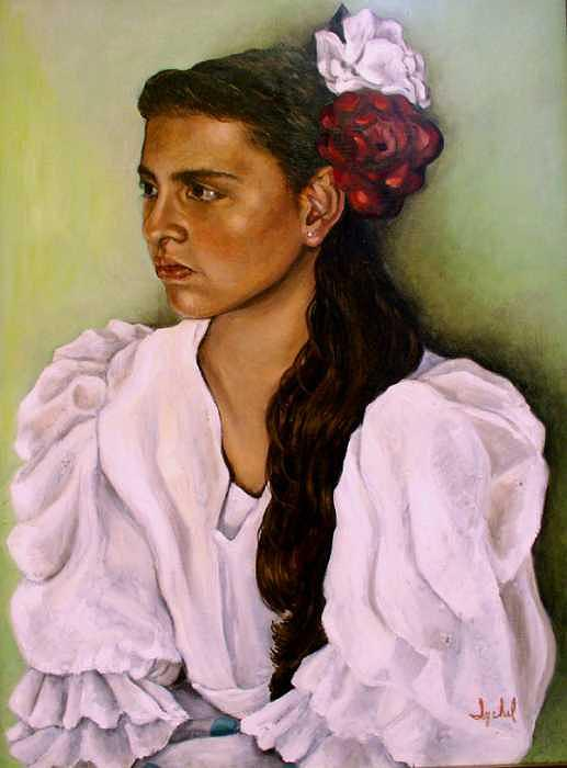 Dancer Painting - Flamenca by Ixchel Amor