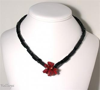Necklace Jewelry - Flamenco   Coral Burst Necklace by Kelli Coaxum