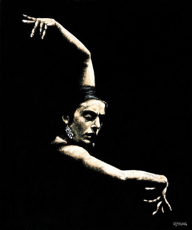 Artwork Painting - Flamenco Arms by Richard Young