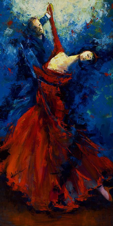 Flamenco Dancers Painting - Flamenco Dancers by Mary DuCharme