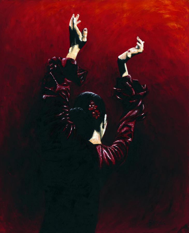 Flamenco Painting - Flamenco Fire by Richard Young