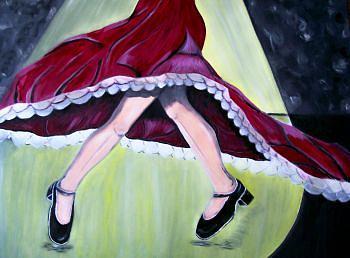 Frau Painting - Flamenco by Mamu Art