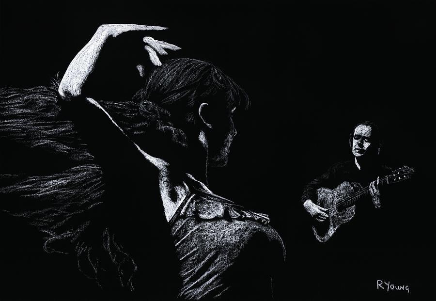 Guitar Pastel - Flamenco Recital by Richard Young