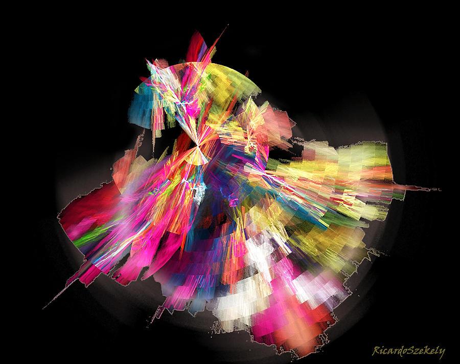 Abstract Digital Art - Flamenco by Ricardo Szekely