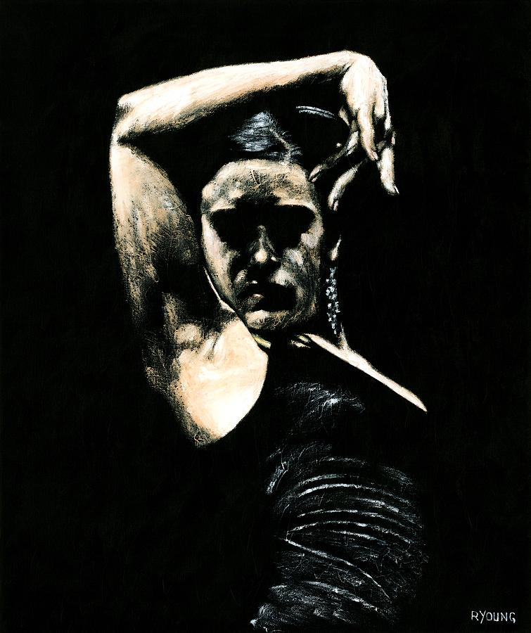 Dancer Painting - Flamenco Soul by Richard Young