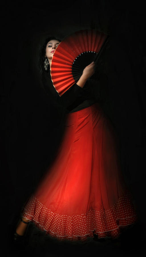 Girl Photograph - Flamenco by Viktor Korostynski