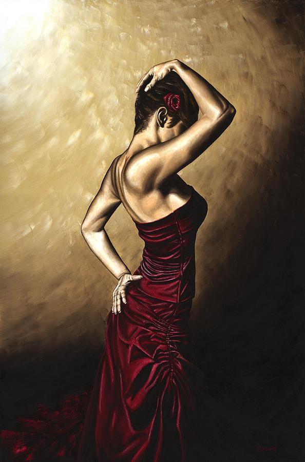Flamenco Painting - Flamenco Woman by Richard Young