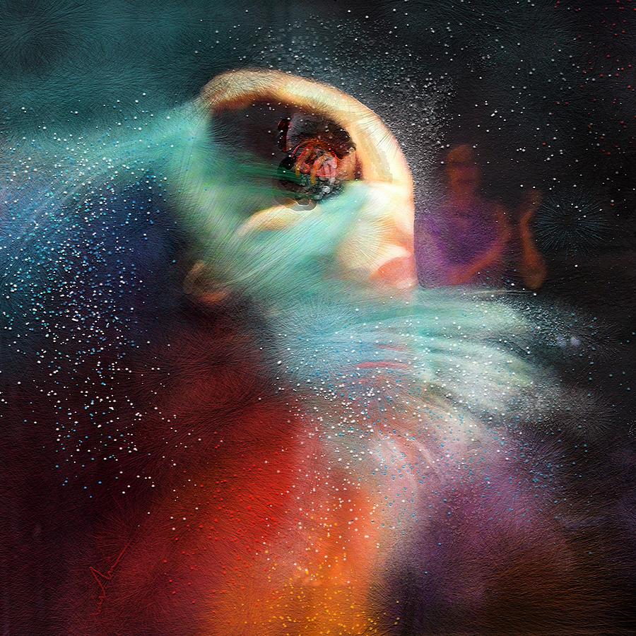 Flamenco Painting - Flamencoscape 02 by Miki De Goodaboom