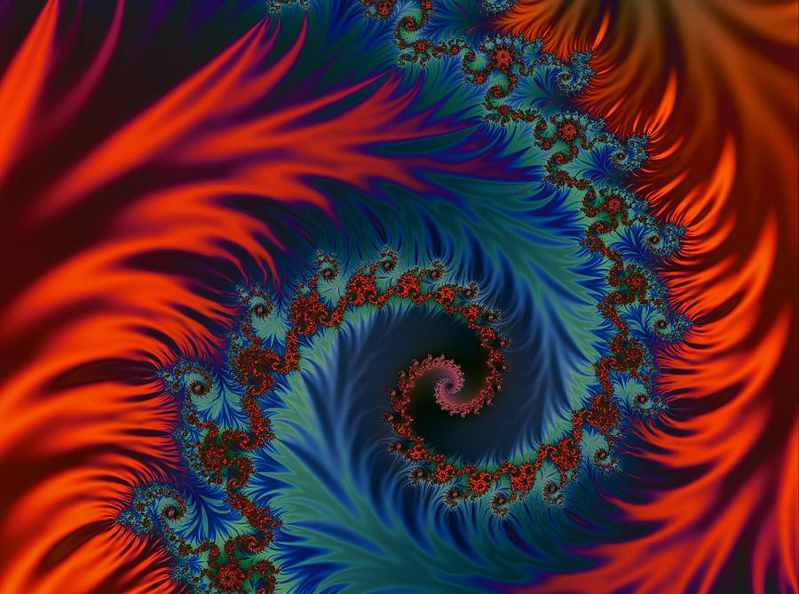 Flames Digital Art - Fractal Flames by Rabecca Primeau