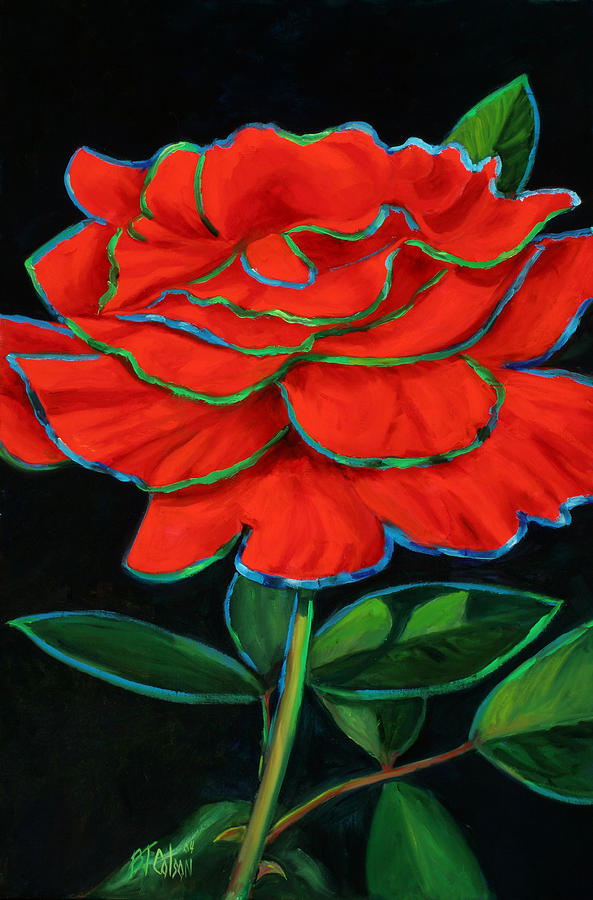 Rose Painting - Flaminco Rose by Billie Colson