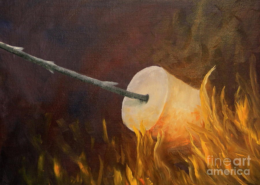 Marshmallow Painting - Flaming by Joi Electa