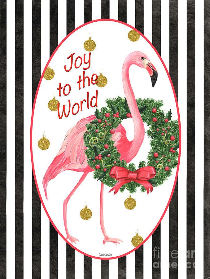 Flamingo Painting - Flamingo Amore 2 by Debbie DeWitt