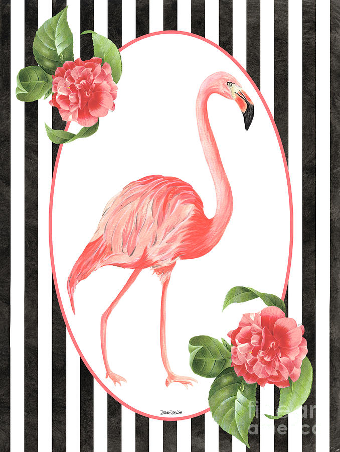 Flamingo Painting - Flamingo Amore 6 by Debbie DeWitt