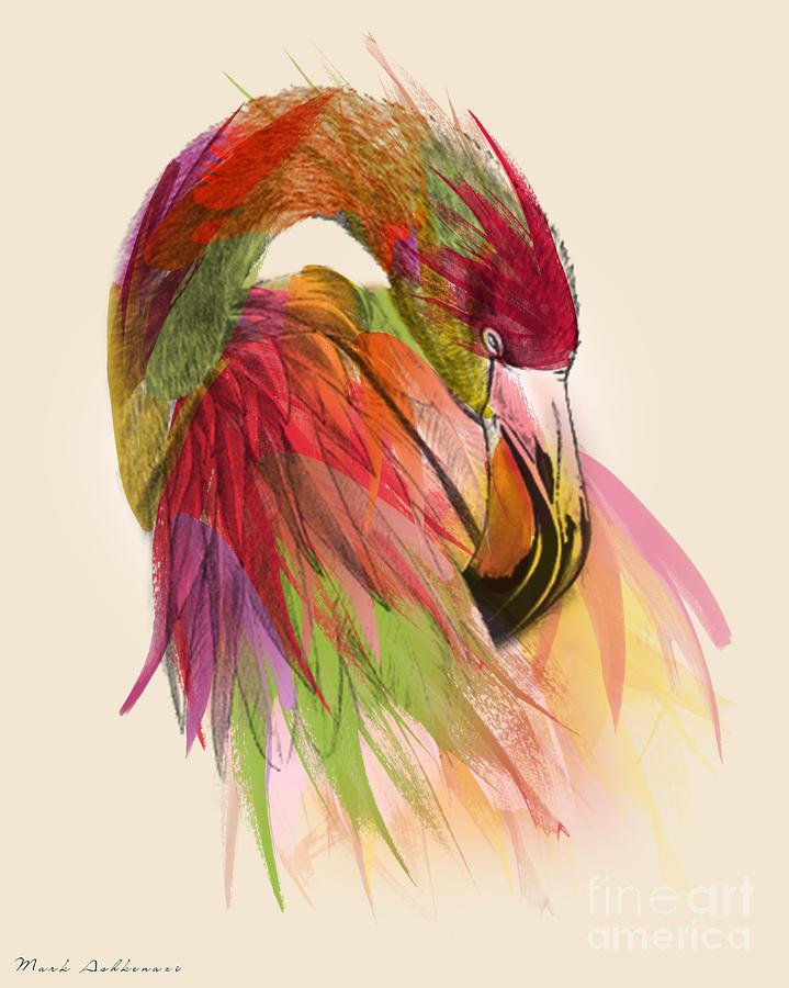 Flamingo Painting - Flamingo  by Mark Ashkenazi