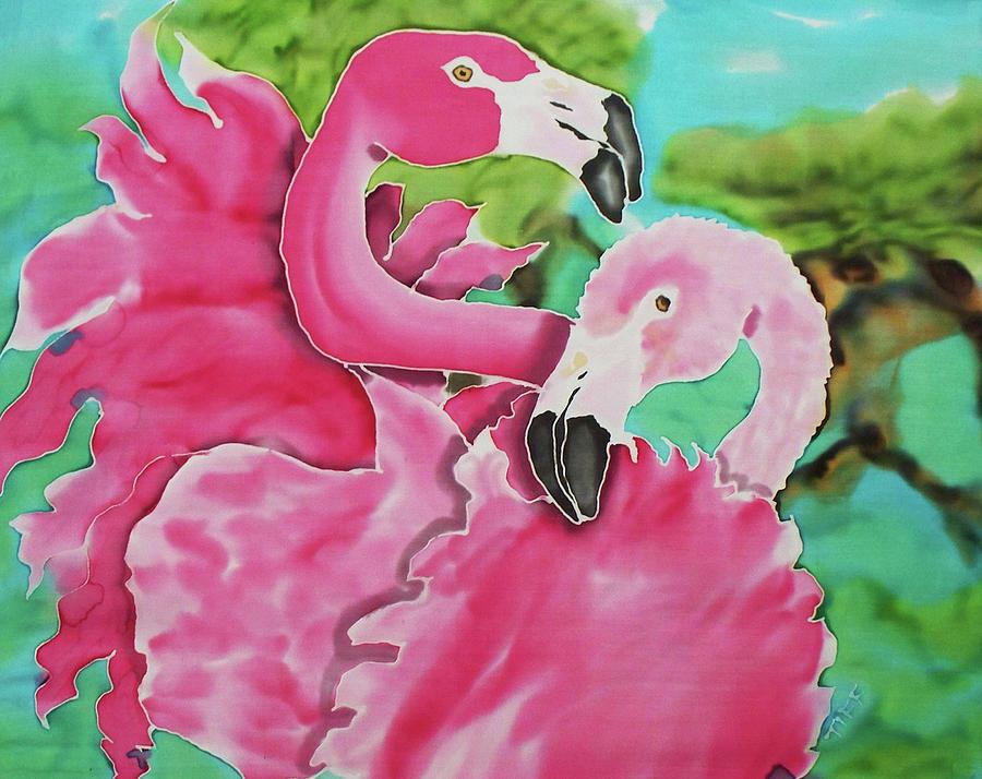 Flamingo Painting - Flamingo Passion by Tiff