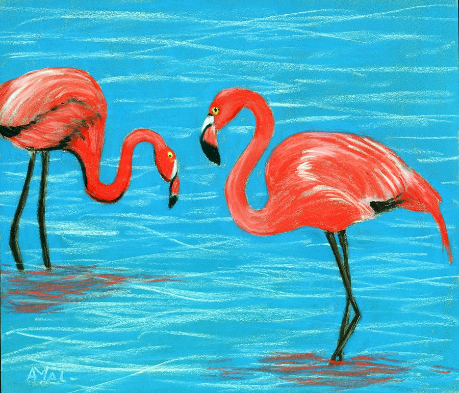 Flamingos by Anastasiya Malakhova