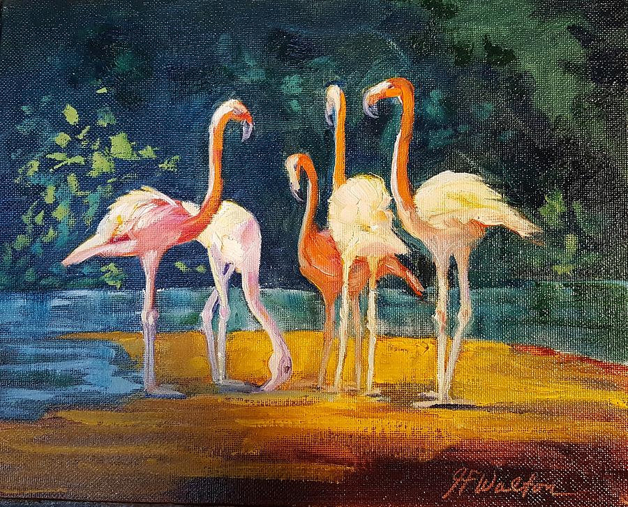 Flamingos by Judy Fischer Walton