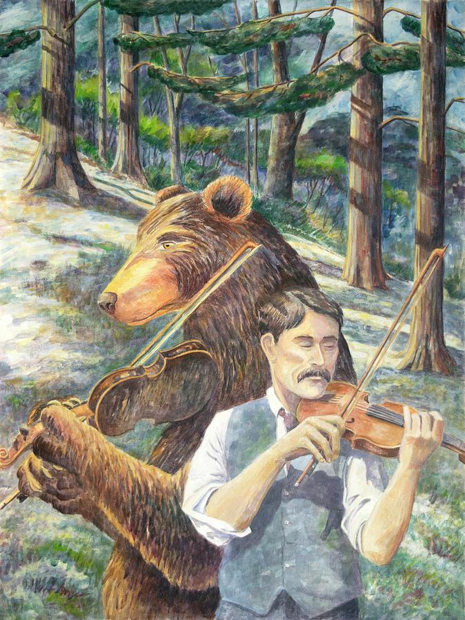 Fiddler Painting - Flannerys Dream by Paula McHugh