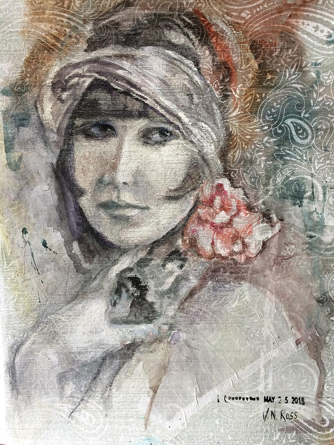 Flapper with Peony by Vicki Ross