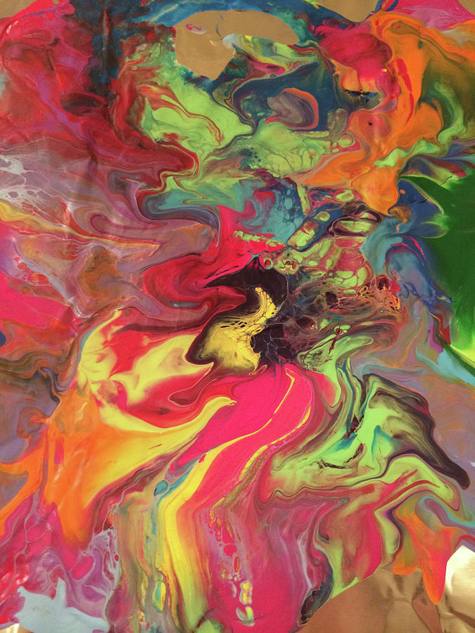 Colors Painting - Flare by Margalit Romano