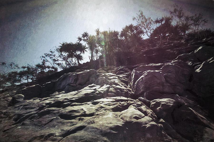 Rocks Digital Art - Flare Rock by Chris Hood