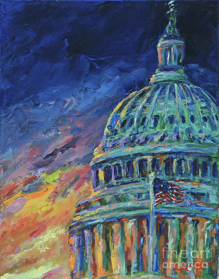 Usa Painting - Flash Dome by Elizabeth Roskam