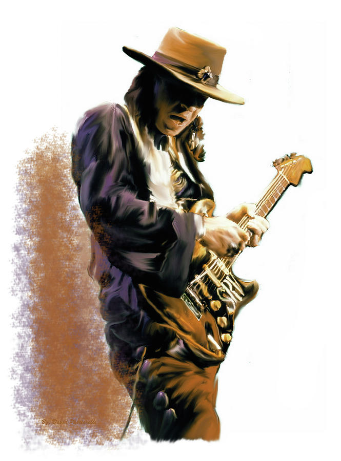 FLASH POINT Stevie Ray Vaughan by Iconic Images Art Gallery David Pucciarelli
