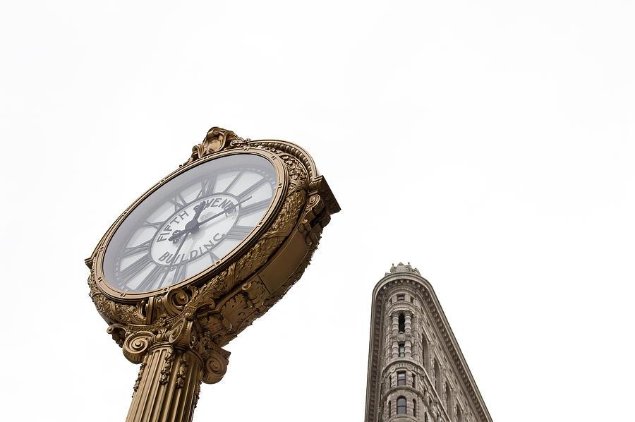 New York City Photograph - Flat Iron Icons #4 by Marylinda Ramos